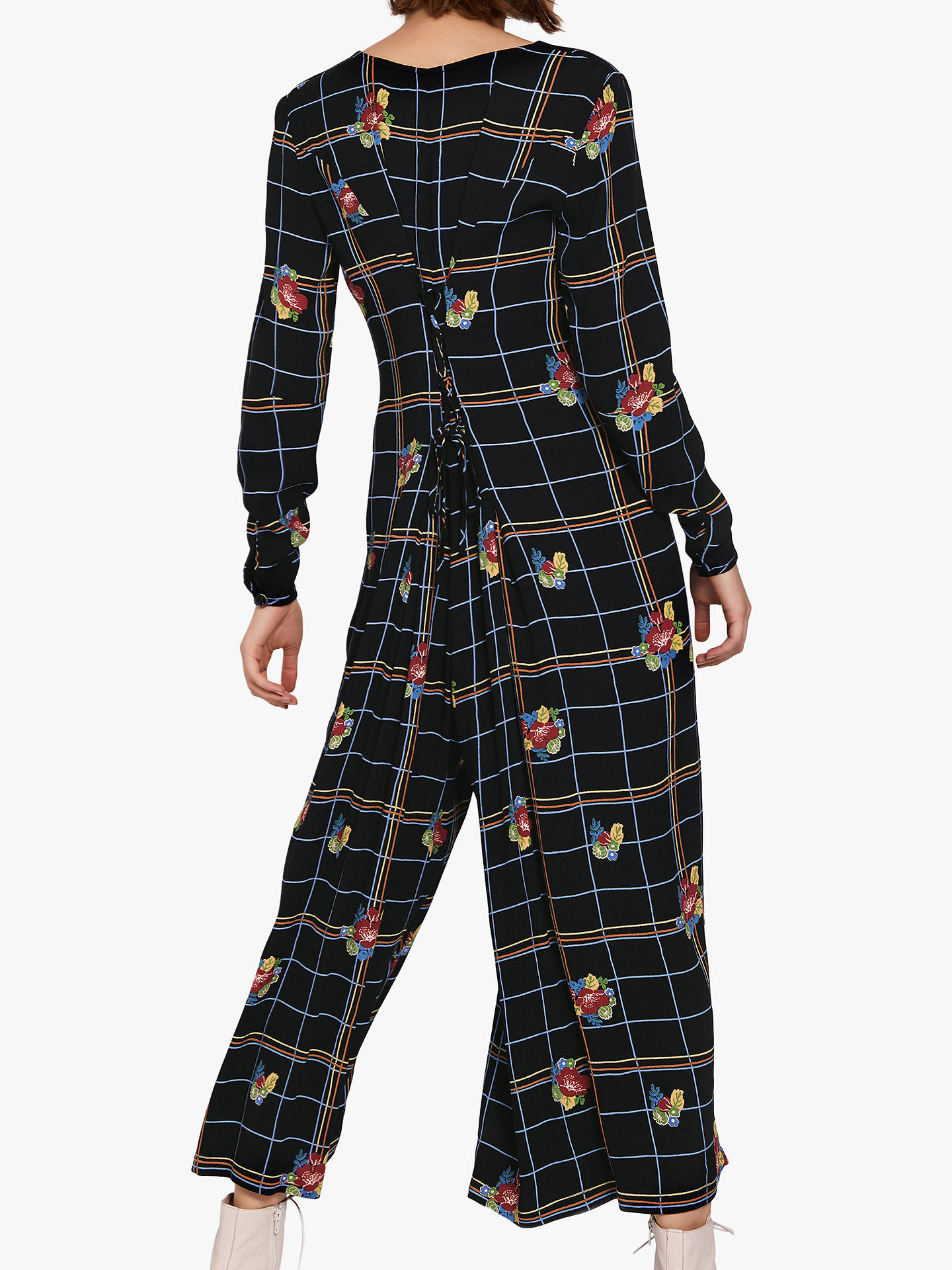 1617d32a1766 Buy Ghost Bay Check and Floral Culotte Jumpsuit
