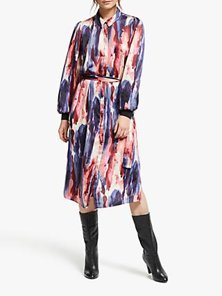 Y.A.S Watercolour Midi Shirt Dress, Multi