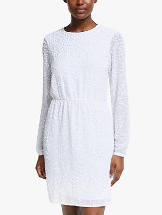Y.A.S Beaded Mini Dress, Star White