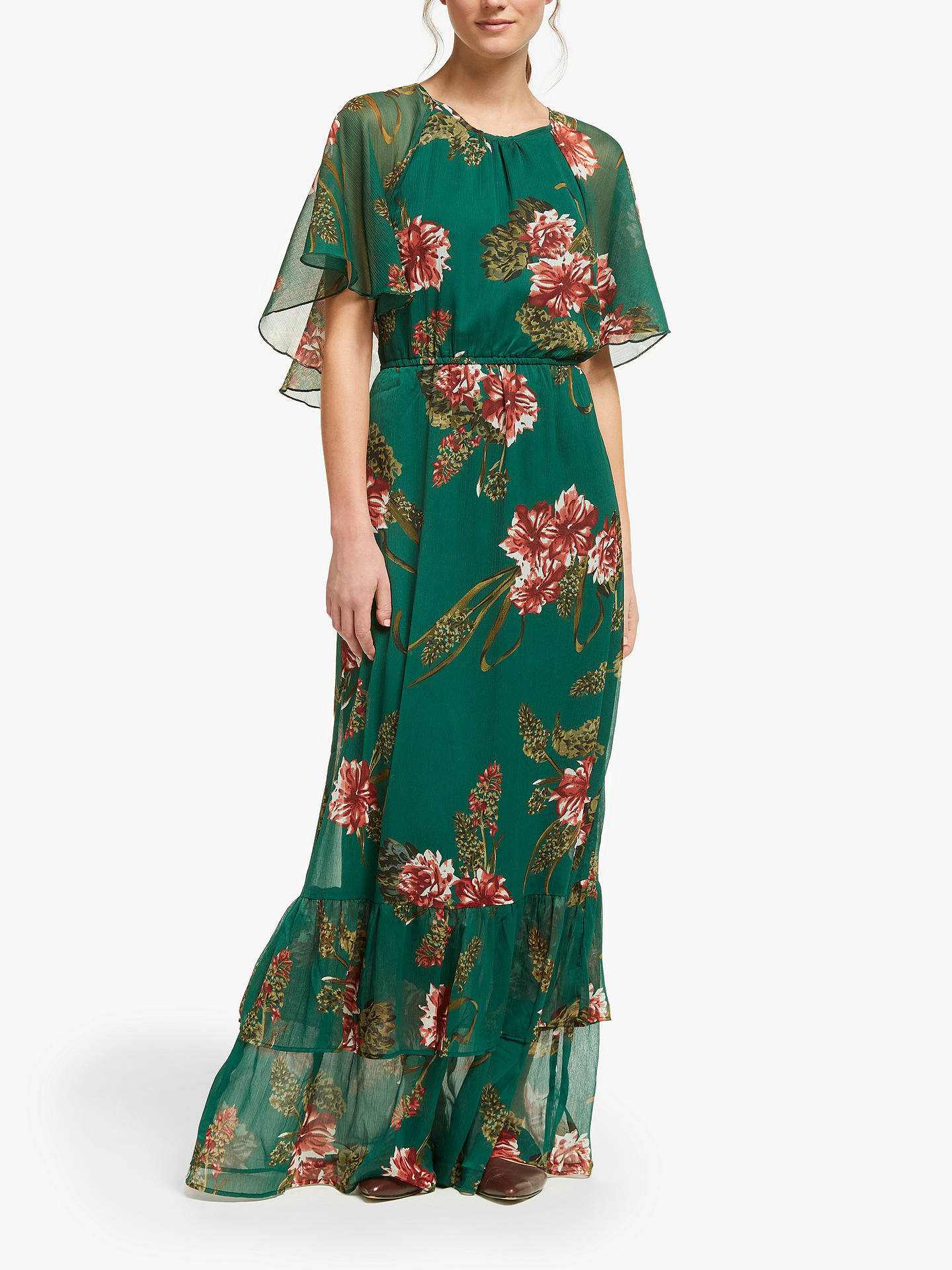 5b808517c59 Y.A.S Hilma Maxi Dress, Green at John Lewis & Partners