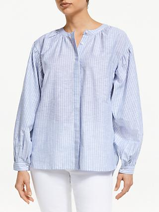 66b01132f9af2 John Lewis   Partners Blouson Sleeve Stripe Blouse
