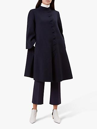 Hobbs Diana Wool Coat, Navy