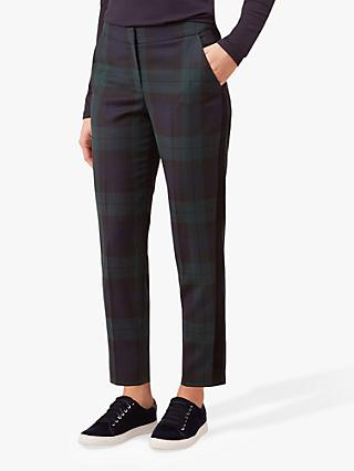 Hobbs Cassidy Check Trousers, Navy Multi