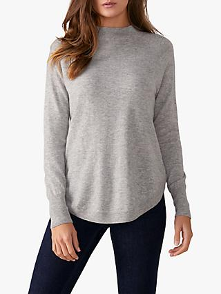 Pure Collection Turtle Neck Jumper, Heather Dove