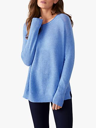 Pure Collection Textured Rib Cashmere Jumper