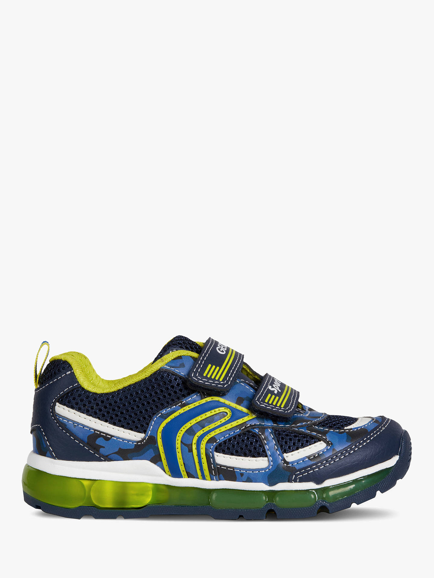 099a33db98c9 Buy Geox Children's J Android Riptape Trainers, Navy/Lime, 36 Online at  johnlewis ...