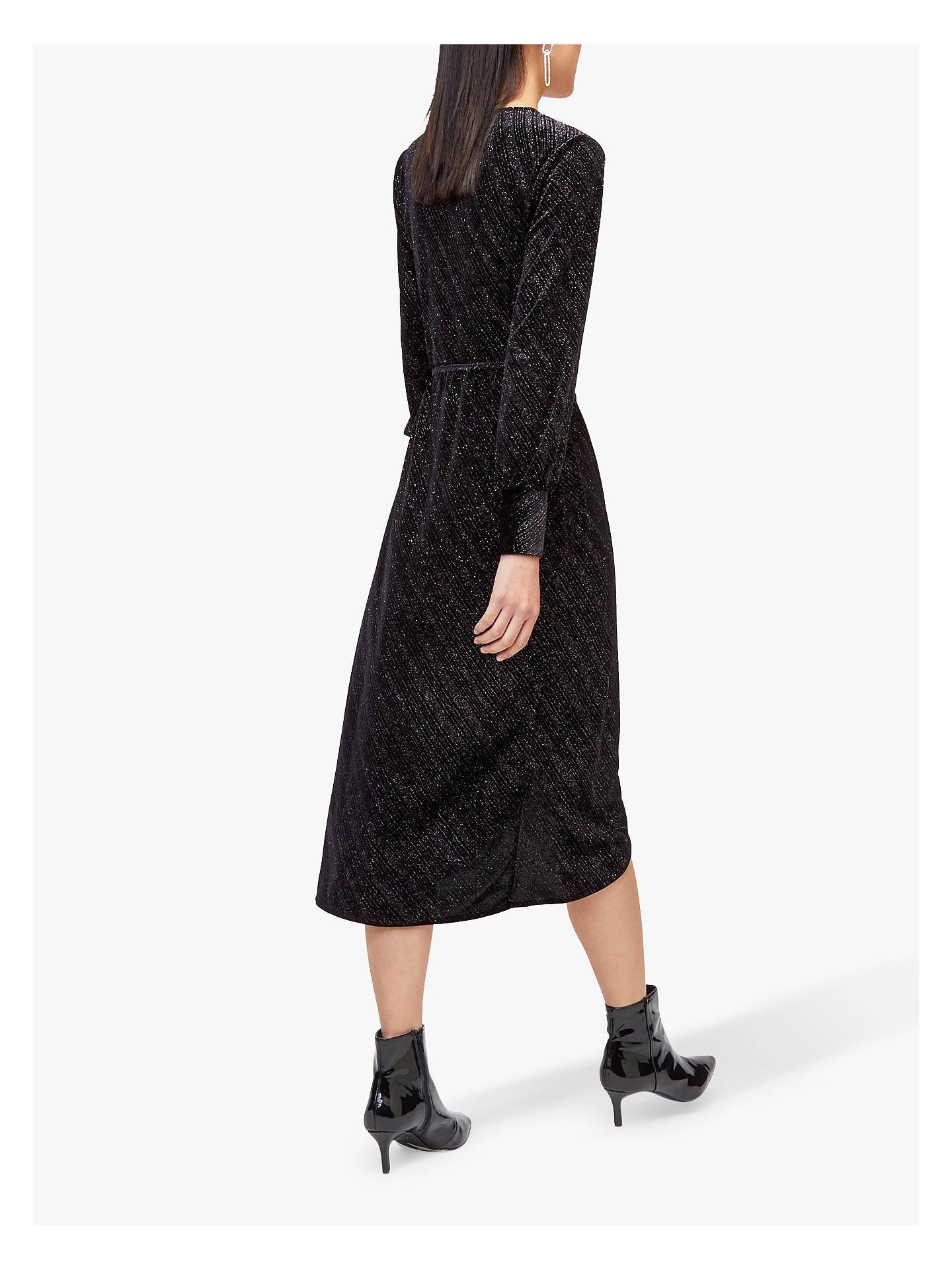 b482e61bc36 ... Buy Warehouse Glitter Velvet Wrap Dress