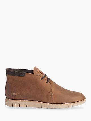 Barbour Boughton Leather Chukka Boots, Brown