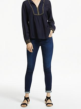 Velvet by Graham & Spencer Grace Blouse, Navy