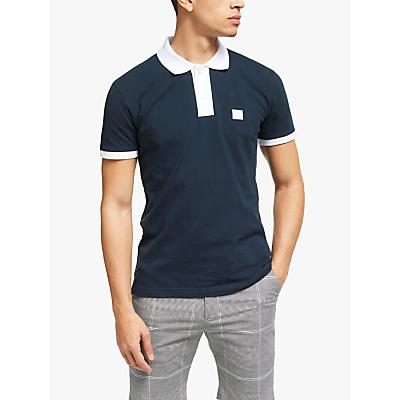 Les Deux Short Sleeve Contrast Polo Shirt
