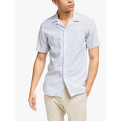 Les Deux Short Sleeve Stripe Shirt