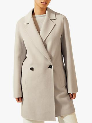 Jigsaw Double Faced Coat, Stone