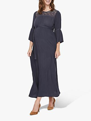 Mamalicious Boho Maxi Maternity Dress, Blue
