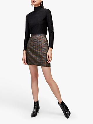Warehouse Rainbow Sparkle Pelmet Mini Skirt, Multi