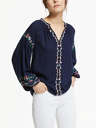 Velvet by Graham & Spencer Carina Blouse, Navy