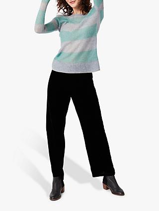 White Stuff Loch Lane Stripe Jumper, Green