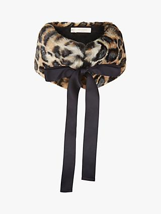 Hobbs Carly Faux Fur Collar, Leopard