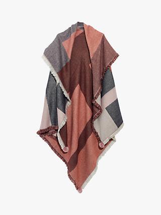 Madewell Pom Pom Check Blanket Scarf 2e5b1b78e64c