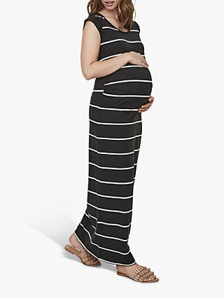 cc8412125d28e Mamalicious Ally Striped Maxi Maternity Dress, Grey