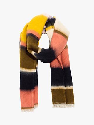 c1a4e447962b Madewell Fuzzy Stripe Scarf