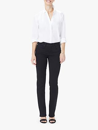 NYDJ Marilyn Petite Straight Jeans, Black