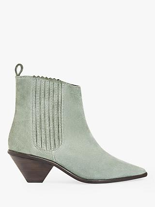 becd4207343 Jigsaw Camila Suede Pointed Ankle Boots