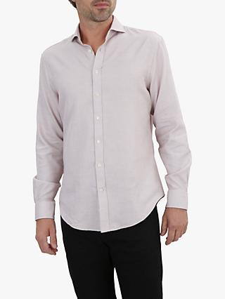 Jaeger Two Colour Weave Shirt, Ginger