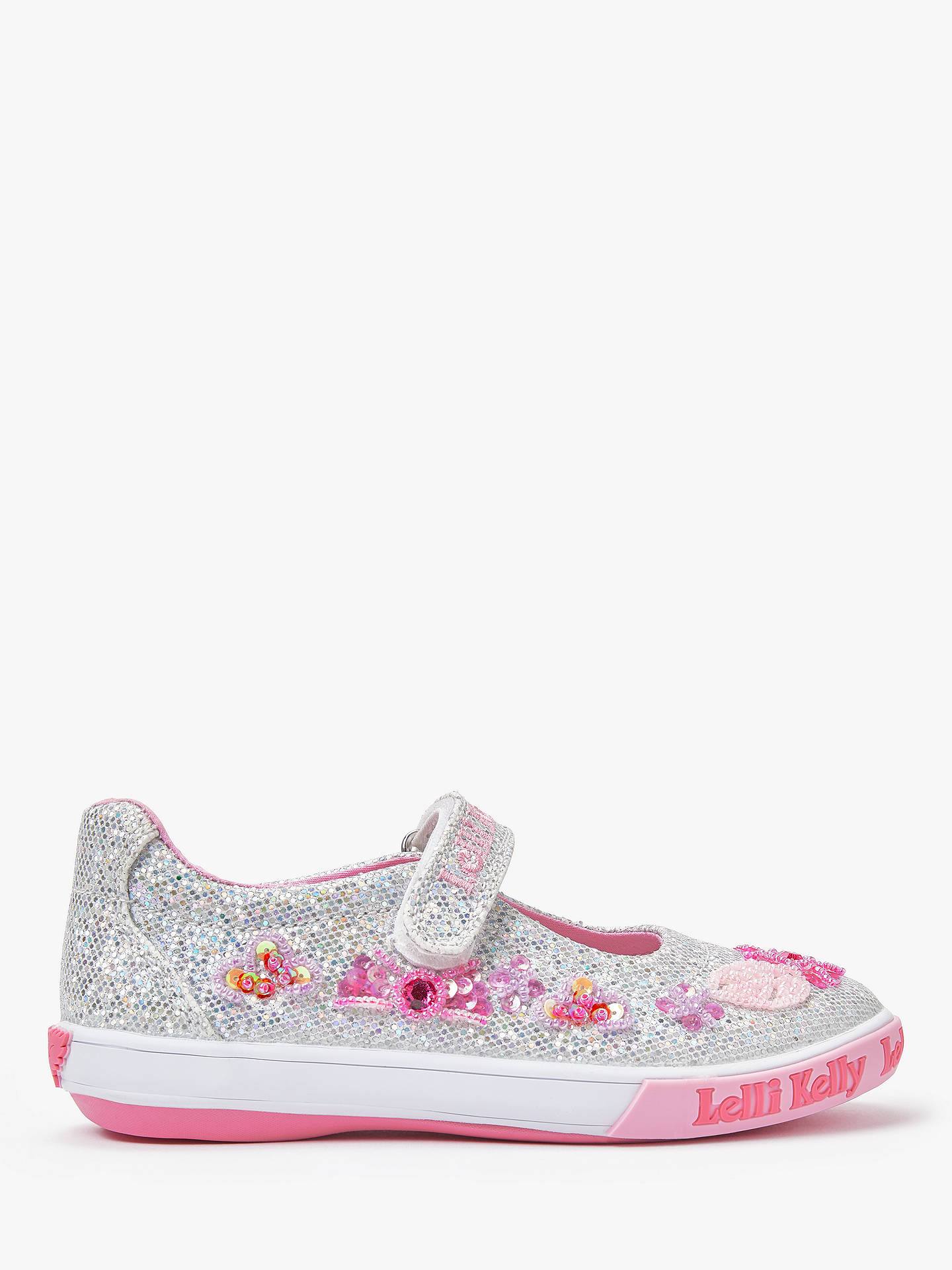 info for info for new style Lelli Kelly Children's Glitter Daisy Dolly Shoes, Silver at John ...