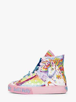 Lelli Kelly Children's Unicorn High Top Trainers, Multi Fantasia