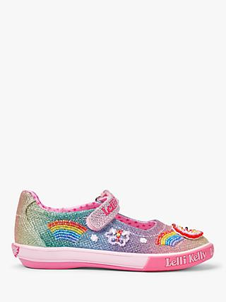 Lelli Kelly Children's Rainbow Dolly Shoes, Multi