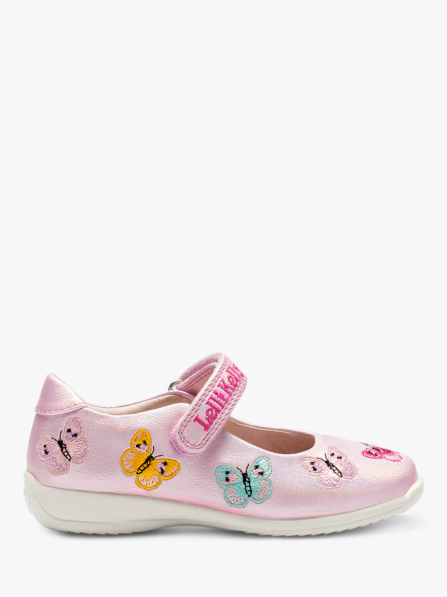 1ef4f3611a390 Buy Lelli Kelly Children's Kate Butterfly Dolly Shoes, Pearled Pink, 27  Online at johnlewis ...