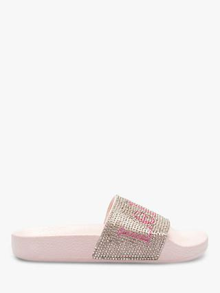 3a05a6751342f Lelli Kelly Children's Glitter Irene Slip-On Sandals, Pink/Silver Glitter