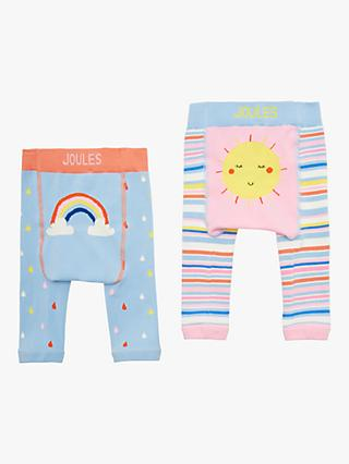 Little Joules Baby Lively Legs Sun and Rainbow Leggings, Pack of 2, Multi