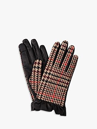 Hobbs Mia Leather Gloves, Nude