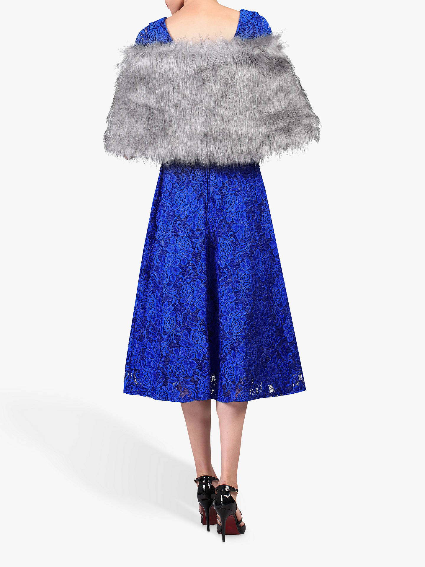 Buy Jolie Moi Faux Fur Stole Wrap, Grey, L/XL Online at johnlewis.com