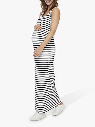 c854245da5 Mamalicious Lea Striped Maxi Maternity Dress