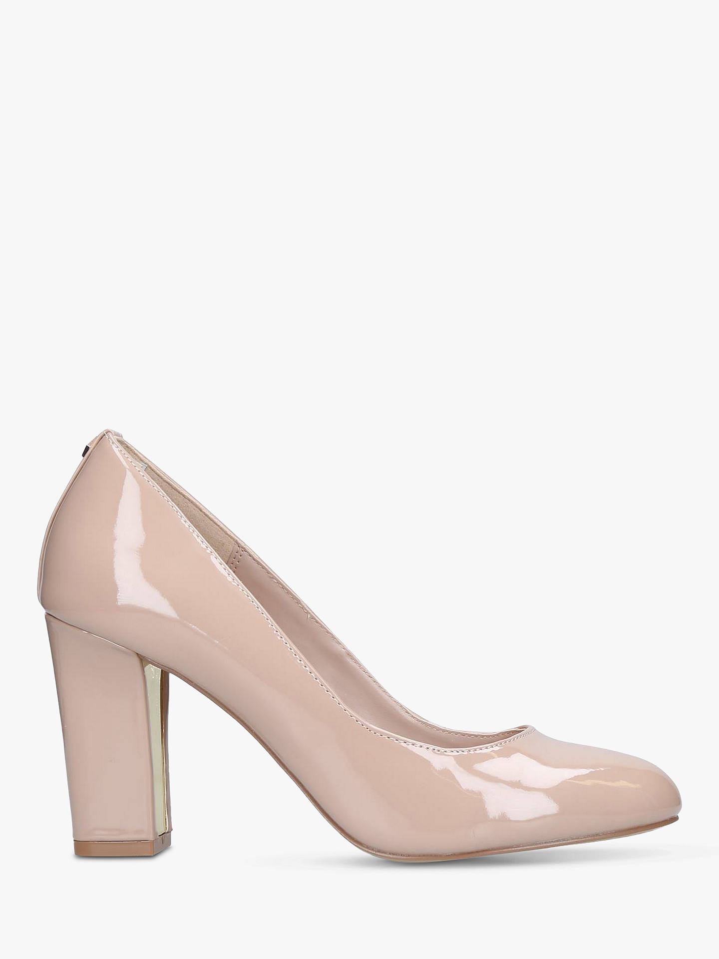 Buy Carvela Kruise Block Heel Court Shoes, Nude Patent, 3 Online at johnlewis.com