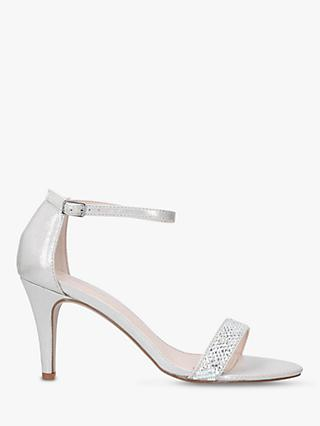 Carvela Kink Stiletto Heel Sandals, Silver