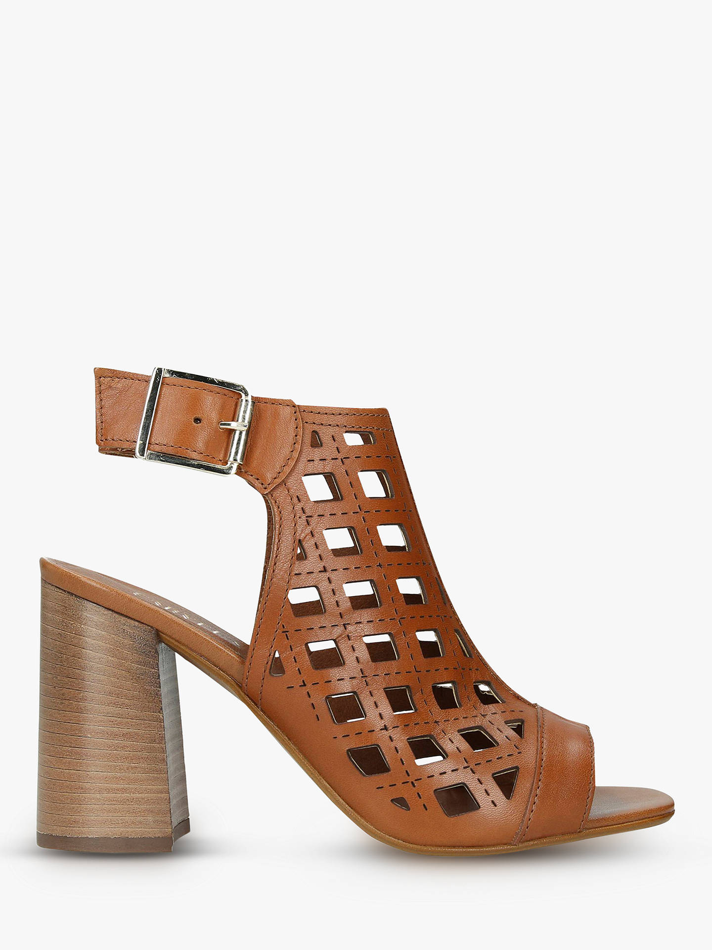 bc15424930b Carvela Arc Laser Cut Block Heel Sandals at John Lewis   Partners