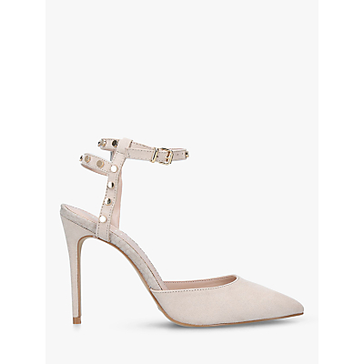Carvela Aronite Studded Stiletto Heel Court Shoes, Natural Taupe