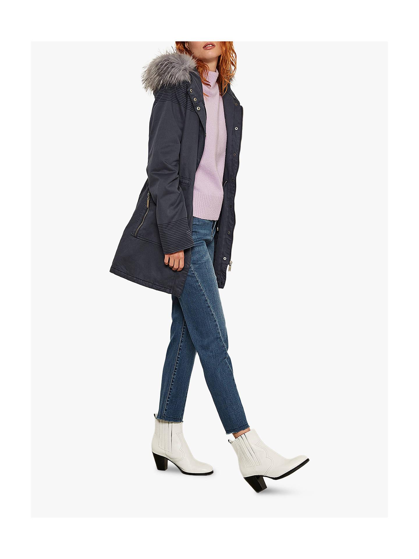 67b37f638ec5 Mint Velvet Sophie Leather Cowboy Ankle Boots, White at John Lewis ...