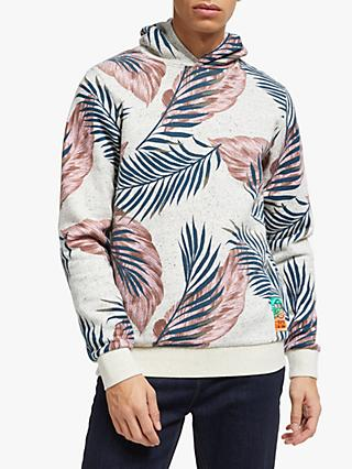 Scotch & Soda Neps Felpa Printed Hoodie, Grey
