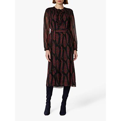 L.K.Bennett Getty Silk Dress, Black Multi