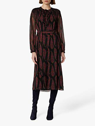 L.K.Bennett Getty Silk Dress, Black Multi