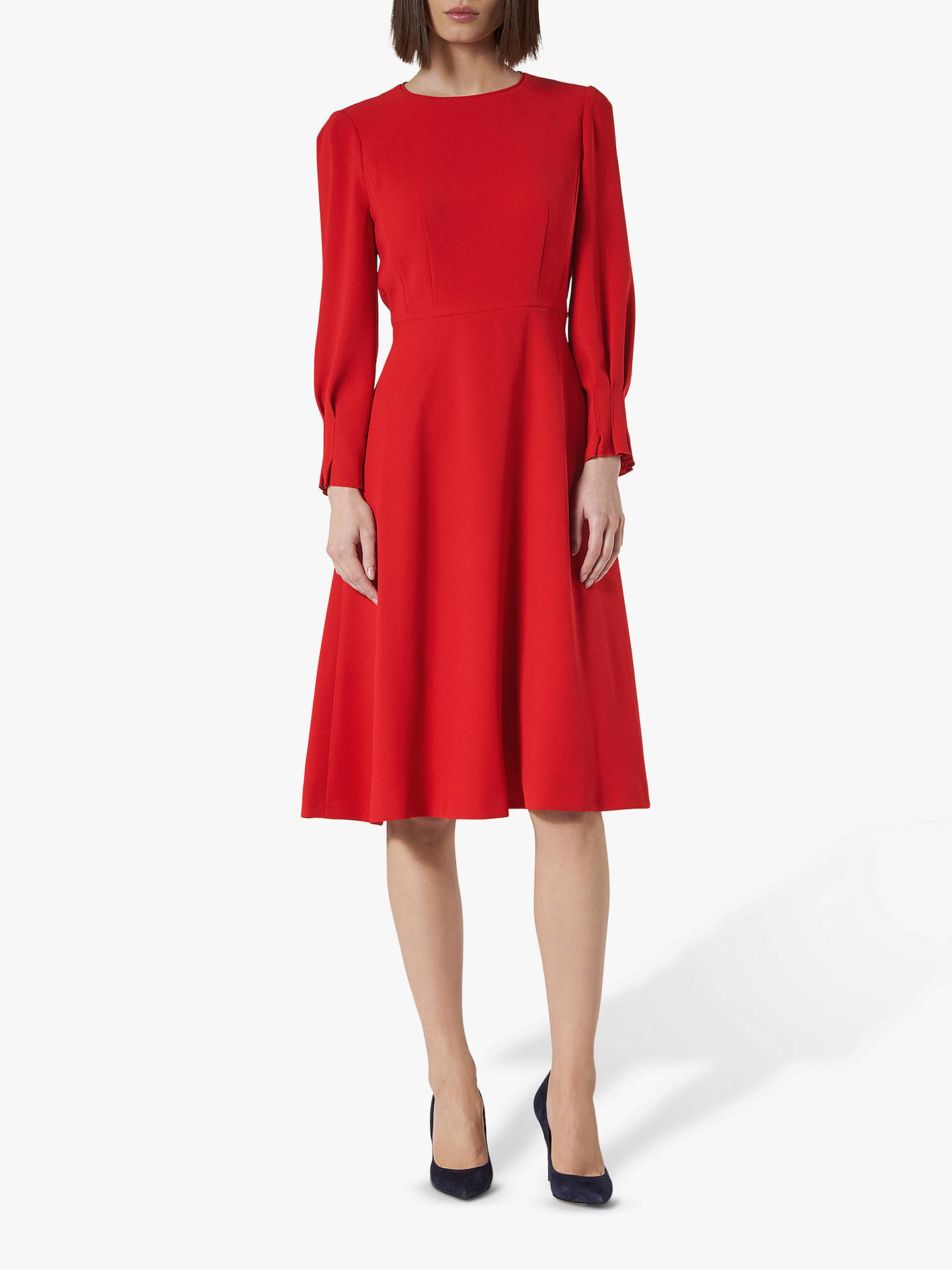 well known really comfortable huge sale L.K.Bennett Kera Dress, Deep Red at John Lewis & Partners