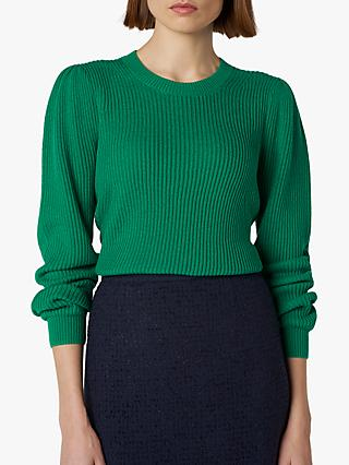L.K.Bennett Jaydn Ribbed Jumper, Green