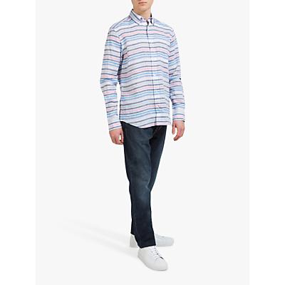 Eden Park Horizontal Stripe Shirt, White/Multi