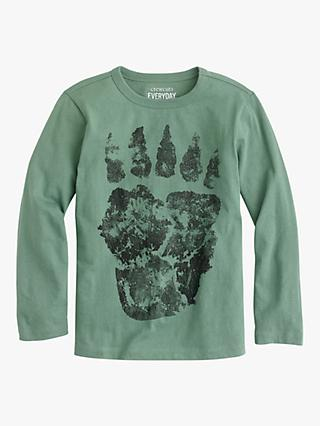 crewcuts by J.Crew Boys' Bear Claw T-Shirt, Faded Moss