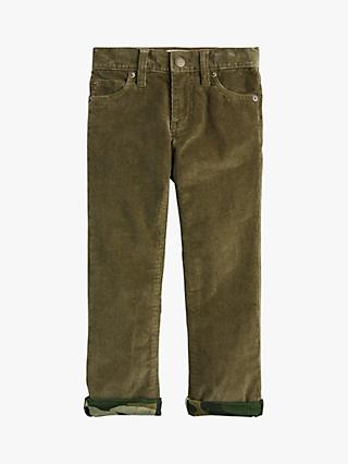 crewcuts by J.Crew Boys' Lined Stretch Corduroy Trousers, Frosty Olive