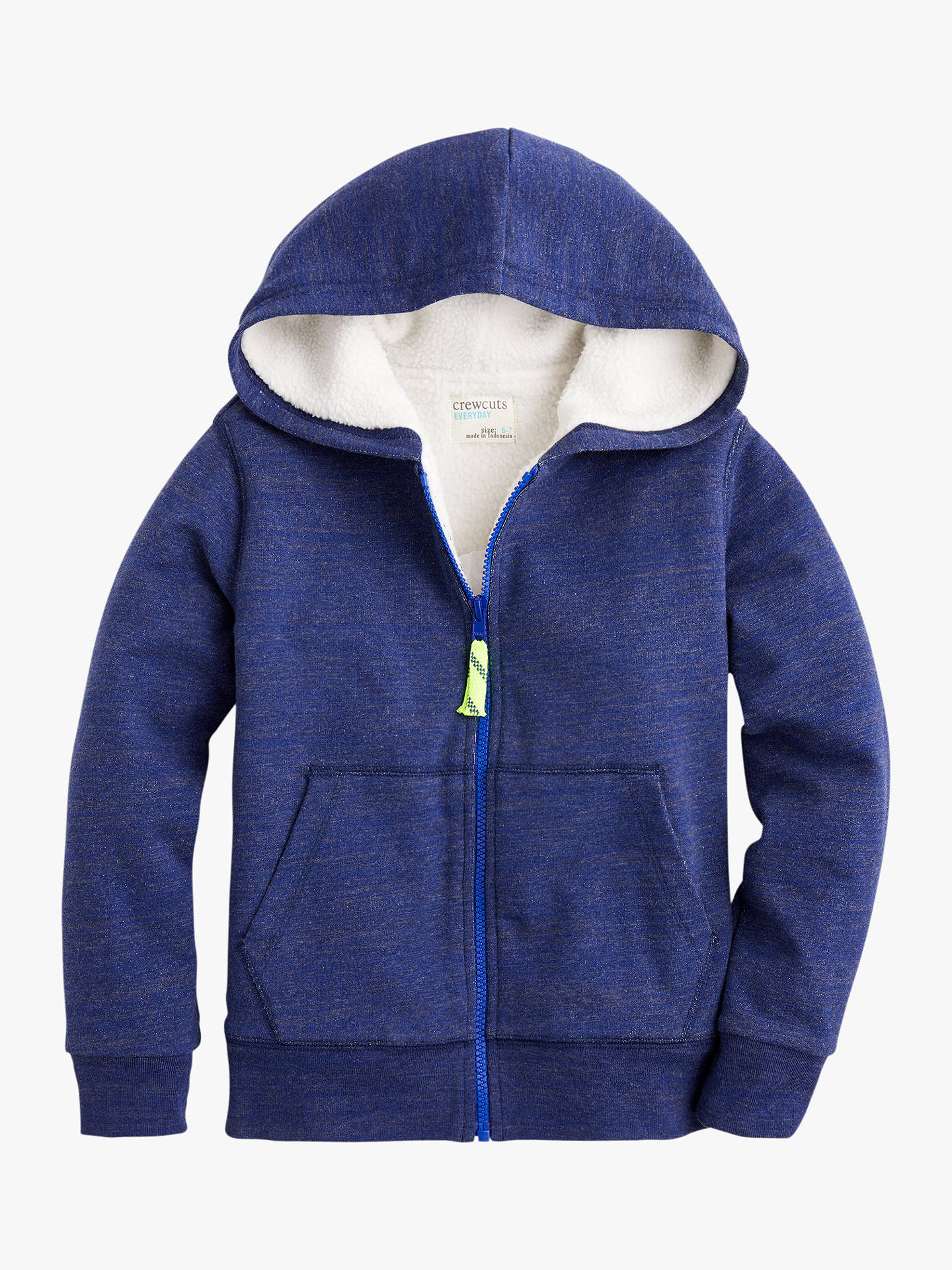 Crewcuts By J Crew Boys Sherpa Lined Hoodie Vivid Ink At John